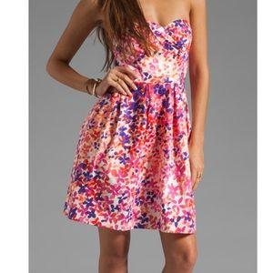 Shoshanna magnolia gardens strapless dress size 4